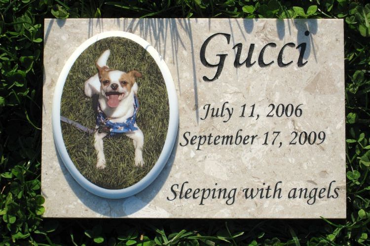 4ever in my heart pet headstone gucci