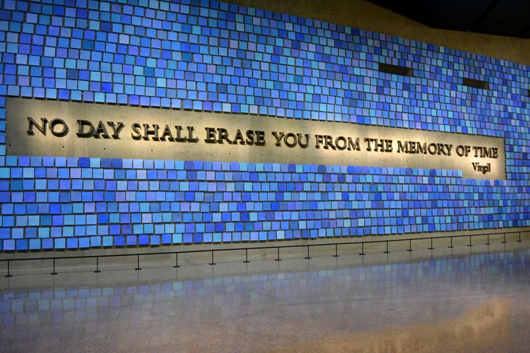 9/11 virgil quote memorial hall national memorial museum at ground zero