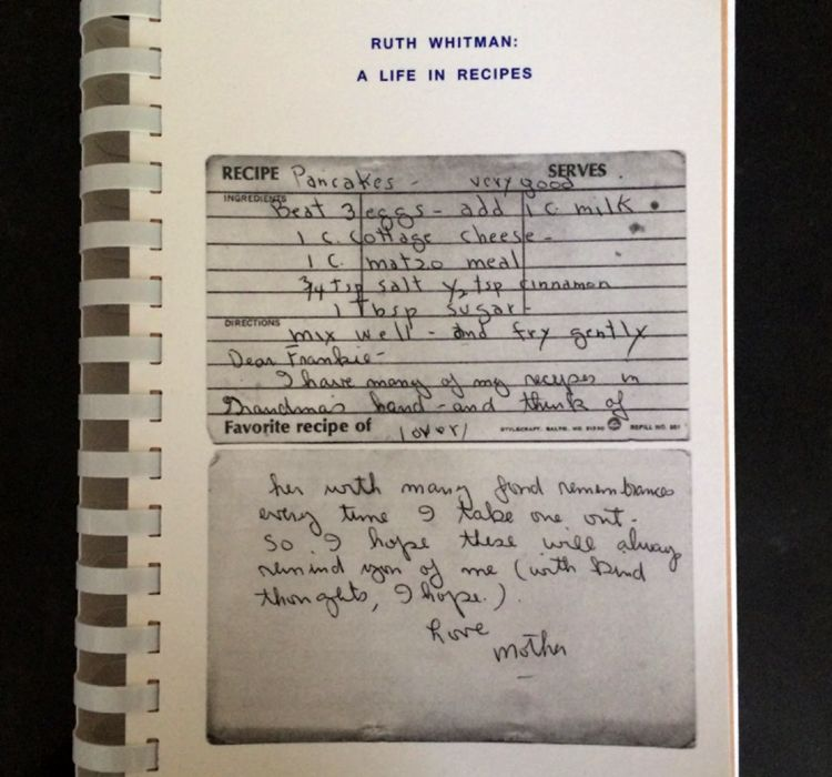 ruth whitman recipe book