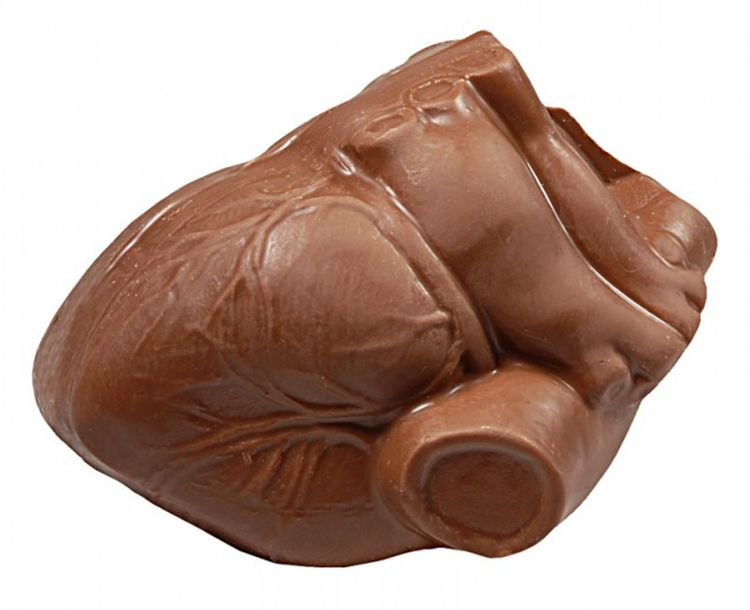 anatomical chocolate heart for valentines day