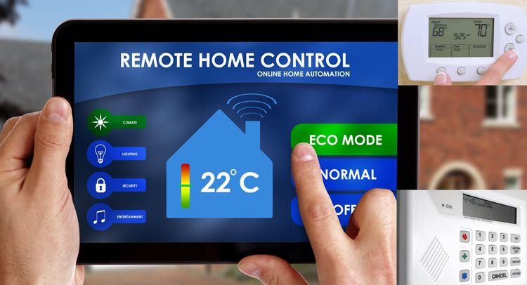 automated home tablet thermostat and security system