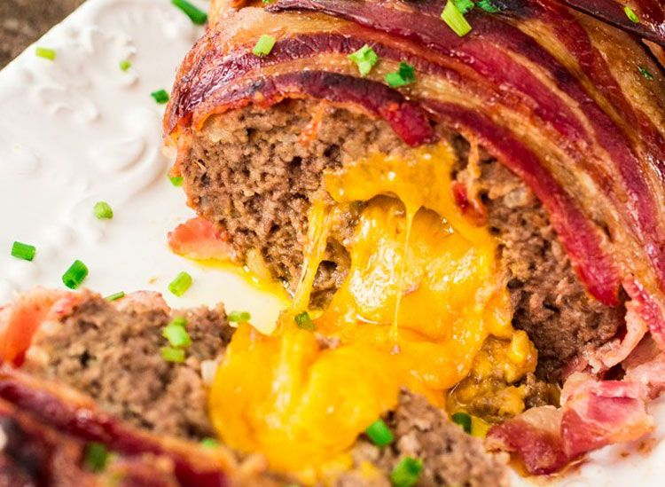bacon wrapped cheese stuffed meatloaf