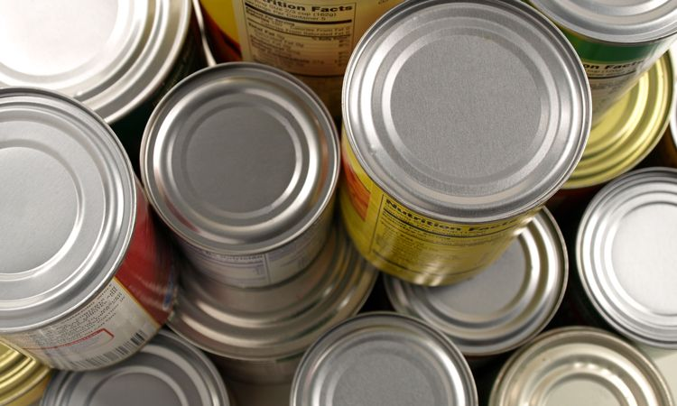Canned food and goods stockpile