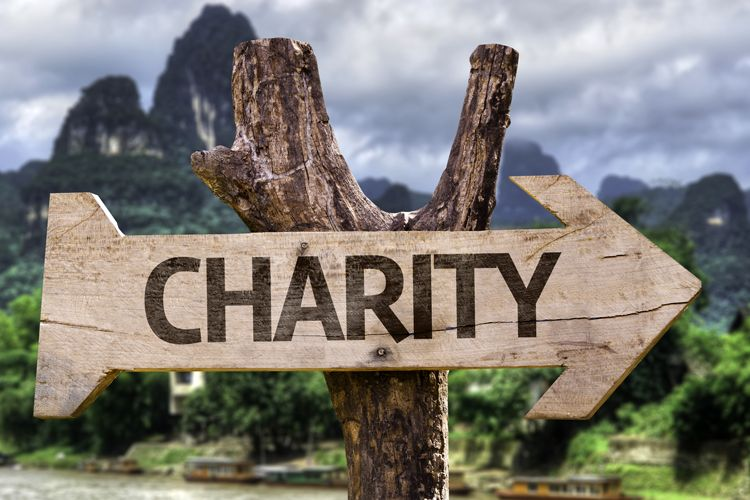 charity sign