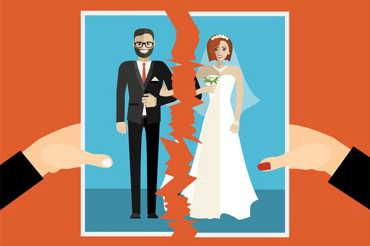 divorce torn photo illustration