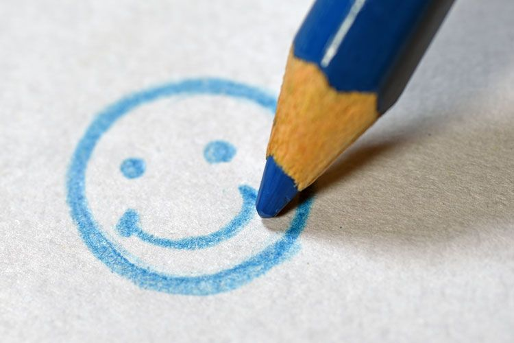 drawing a smiley face
