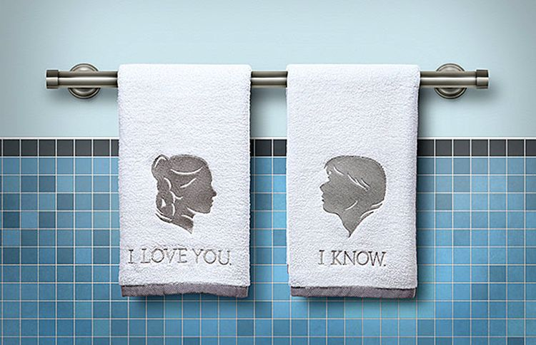 star wars hand towels