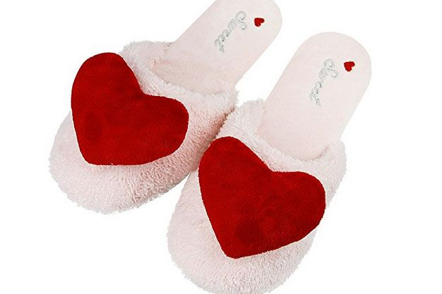 heart slippers