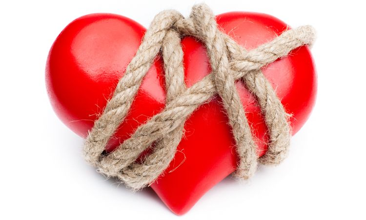 heart wrapped in rope