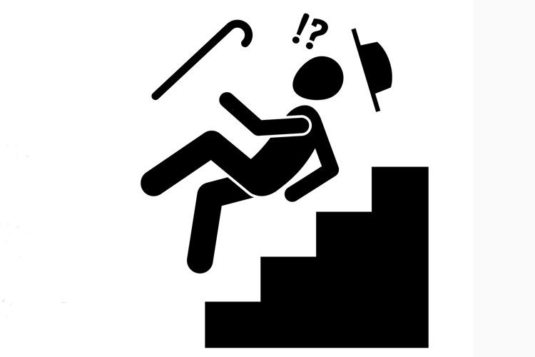 tripping on stairs