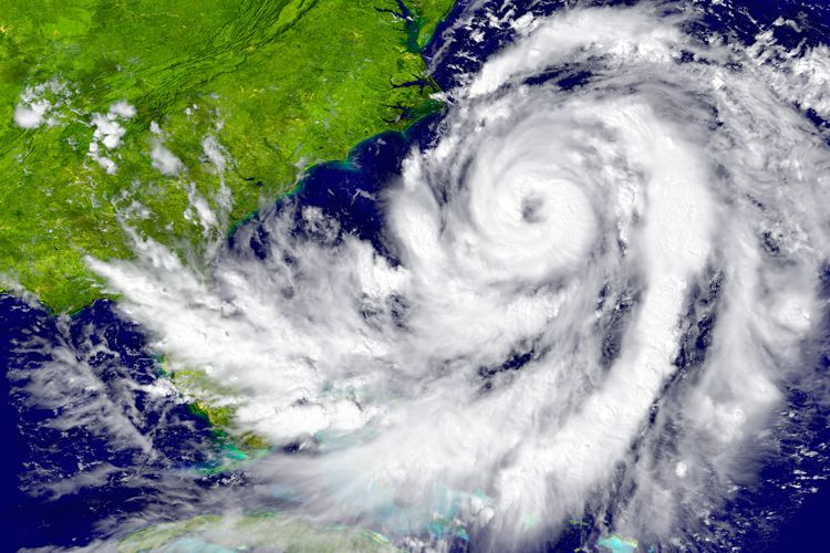 nasa image of hurricane over atlantic