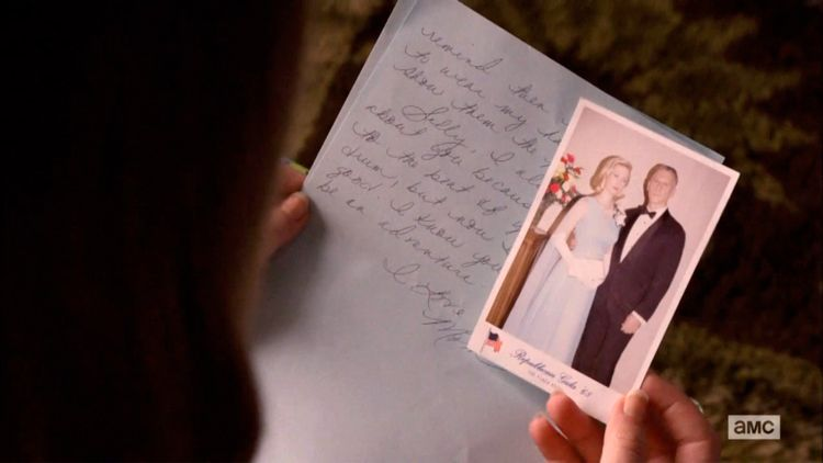 mad men letter from betty with photo