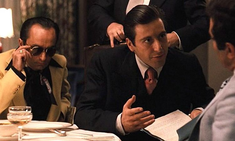 michael and fredo corleone never take sides against the family