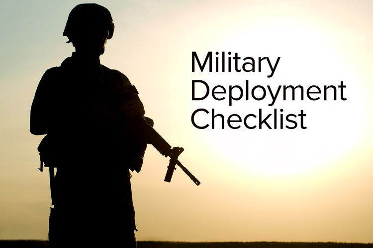 military deployment downloadable checklist