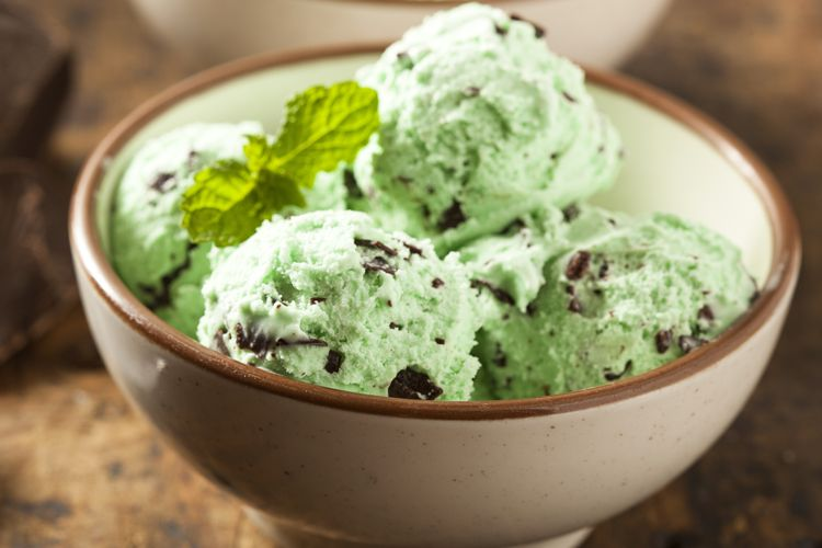 mint chocolate chip ice-cream