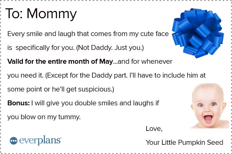 mothers day card baby smiles