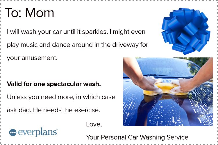 mothers day card teen car wash