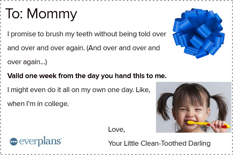 mothers day card toddler toothbrush