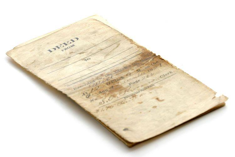 old land deed