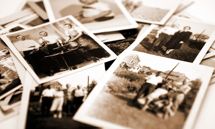 pile of old photographs