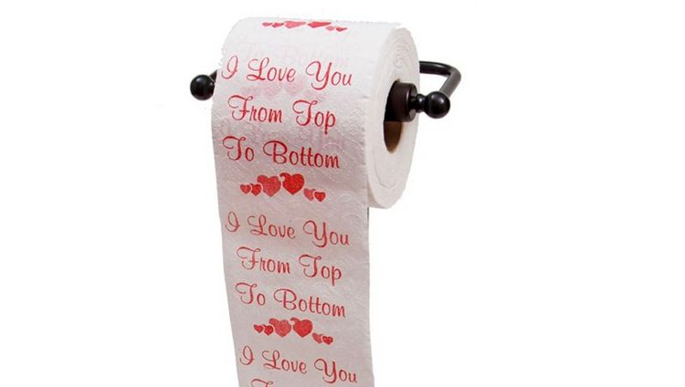romantic toilet paper