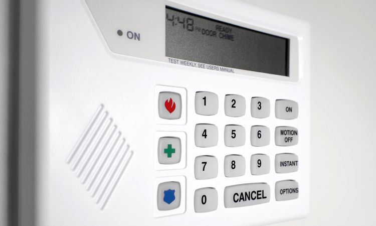 security system panel