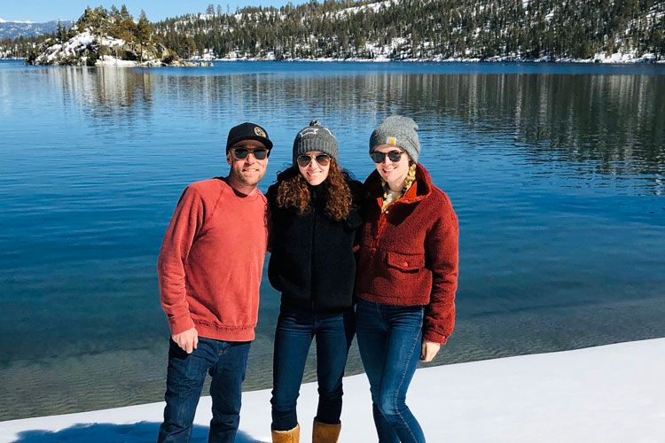 tay family on the water