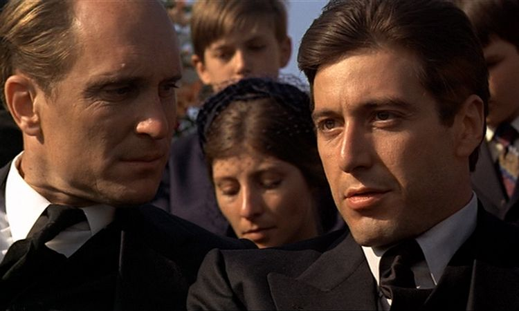 Image result for tom hagen being insulted by movie director in godfather 1