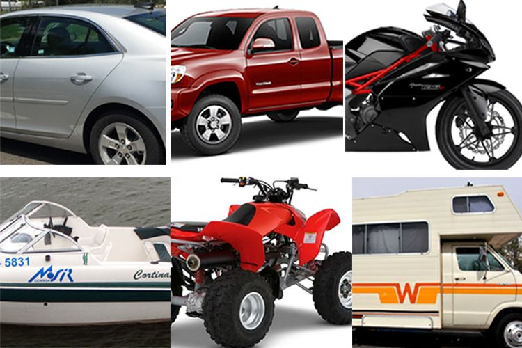 various vehicles