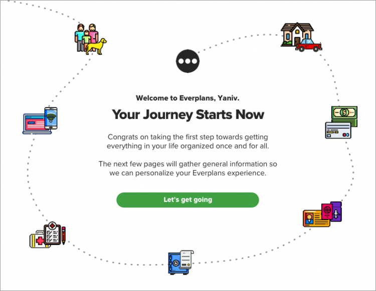 Everplans Welcome Screen
