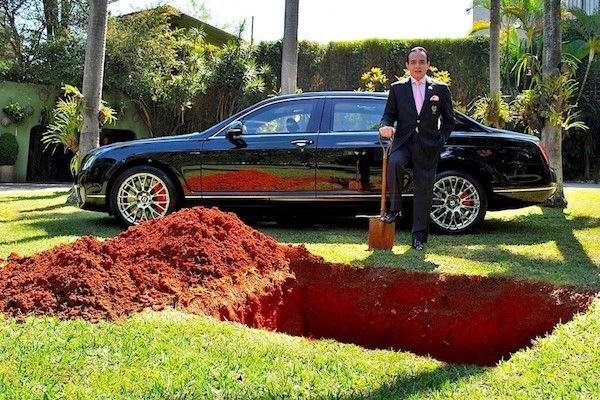 Rich Brazilian buries Bentley to save lives