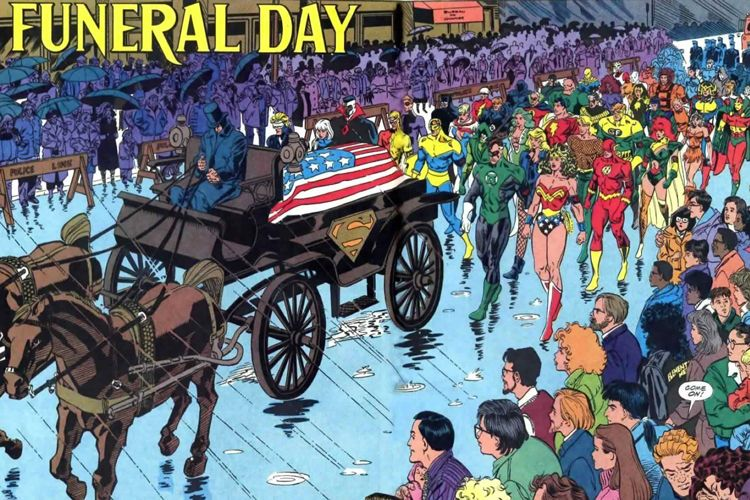 no r i p for superheros how funerals are handled in comic books everplans. Black Bedroom Furniture Sets. Home Design Ideas