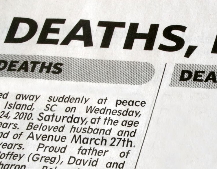 Death Notice Templates And Obituary Templates | Everplans