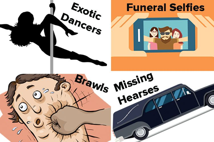 inappropriate things at funerals
