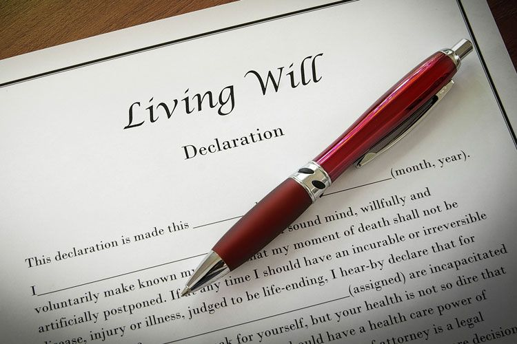 living will document
