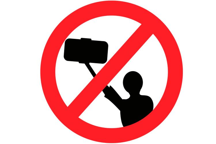 no selfies allowed sign