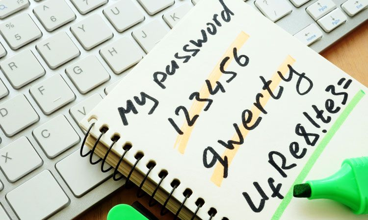 organize passwords
