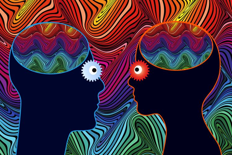 psychedelic couple