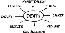 cause of death diagram