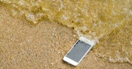 cell phone lost on a beach