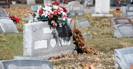 cemetery headstone flowers decide type of cemetery