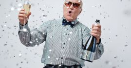old man partying