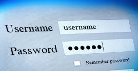 username and password fields