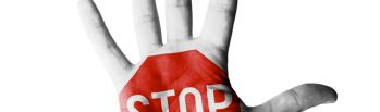 stop sign on hand